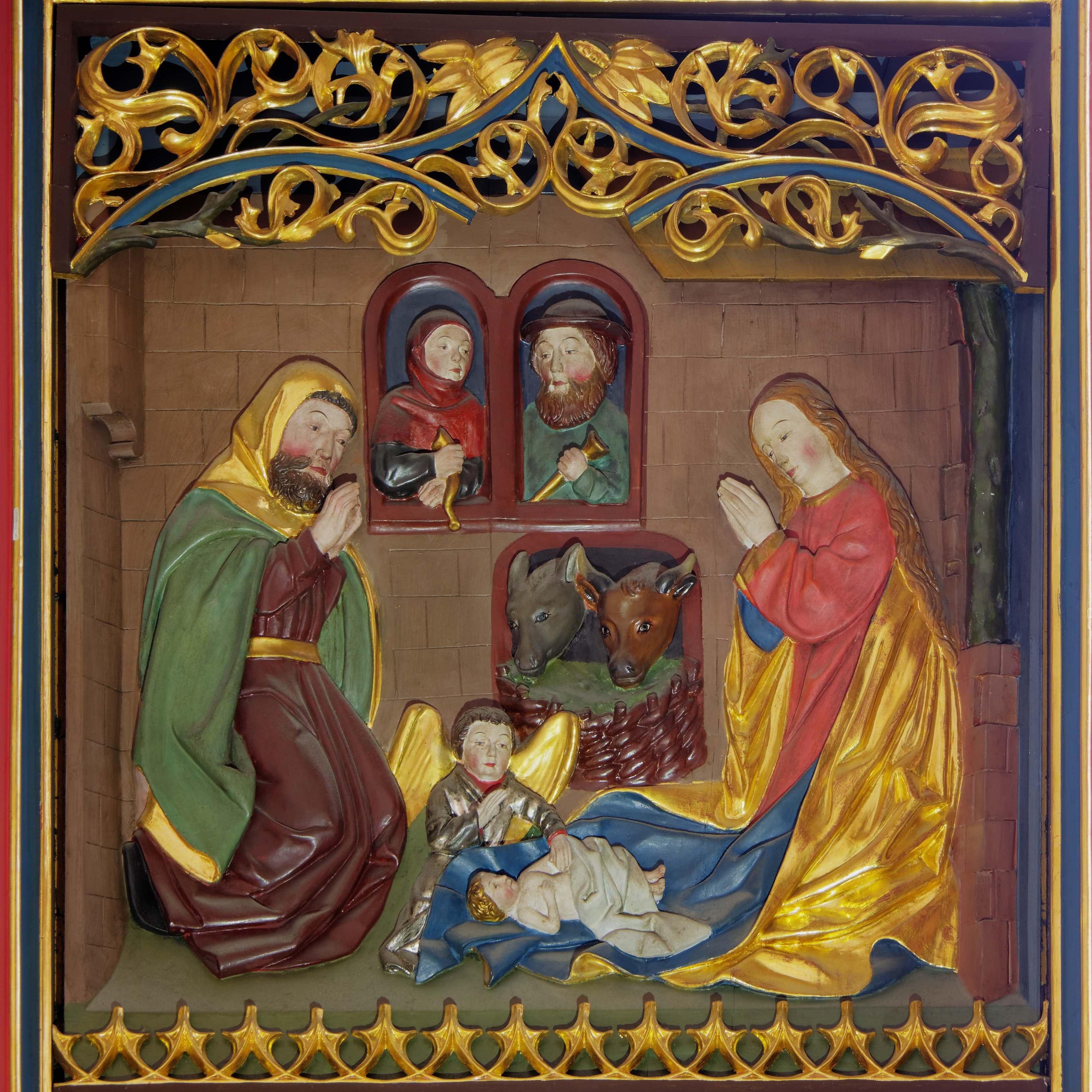 Jesu Geburt (rechter Flügel, oben)