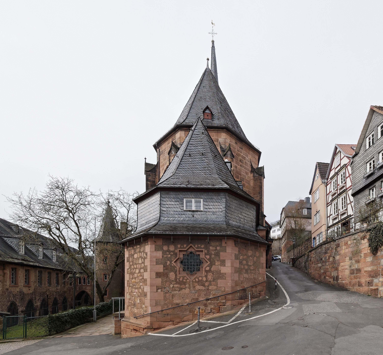 Links Kugelhaus, die Straße rechts führt zum Kalbstor