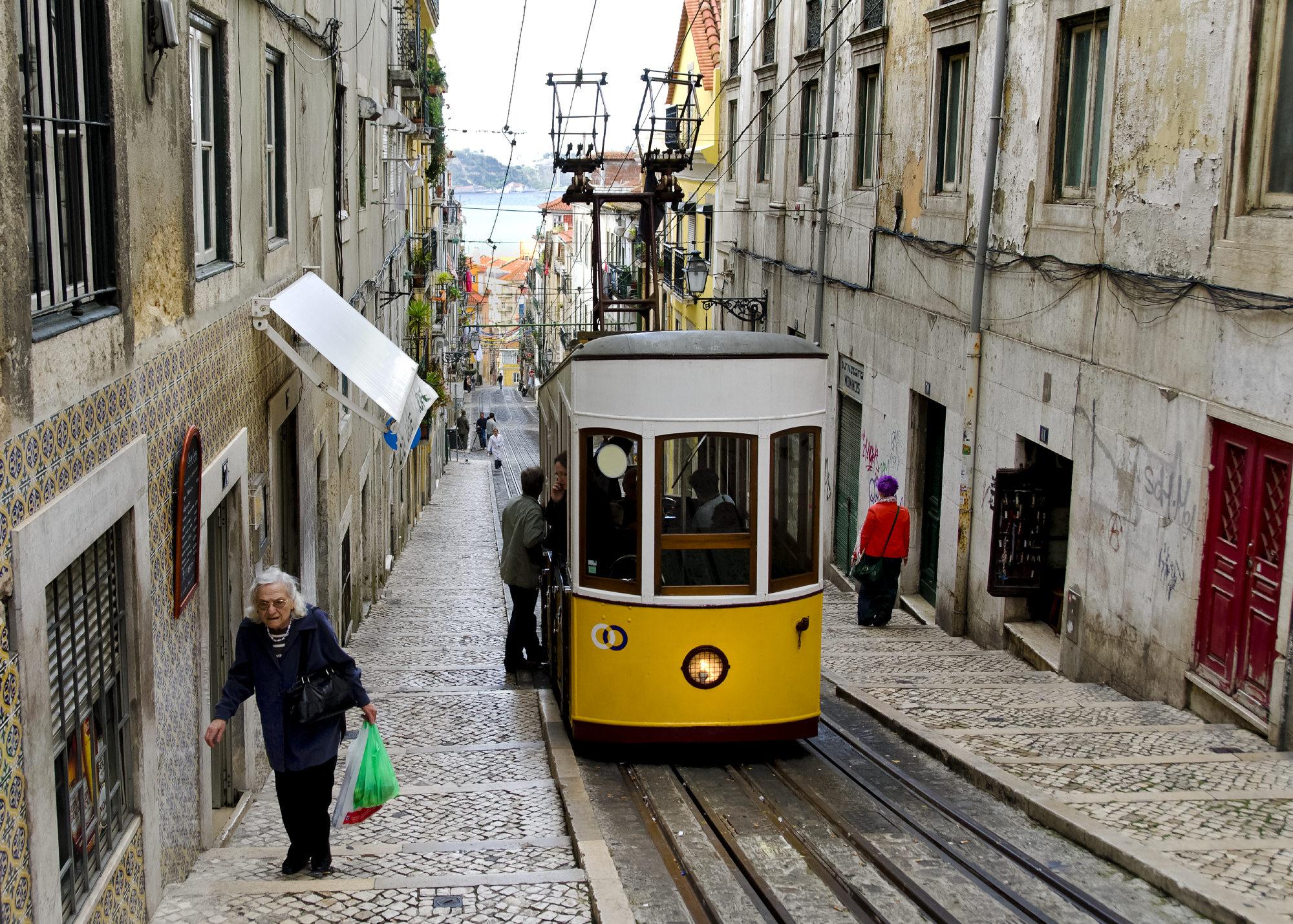 Elevador da Bica, Lissabon