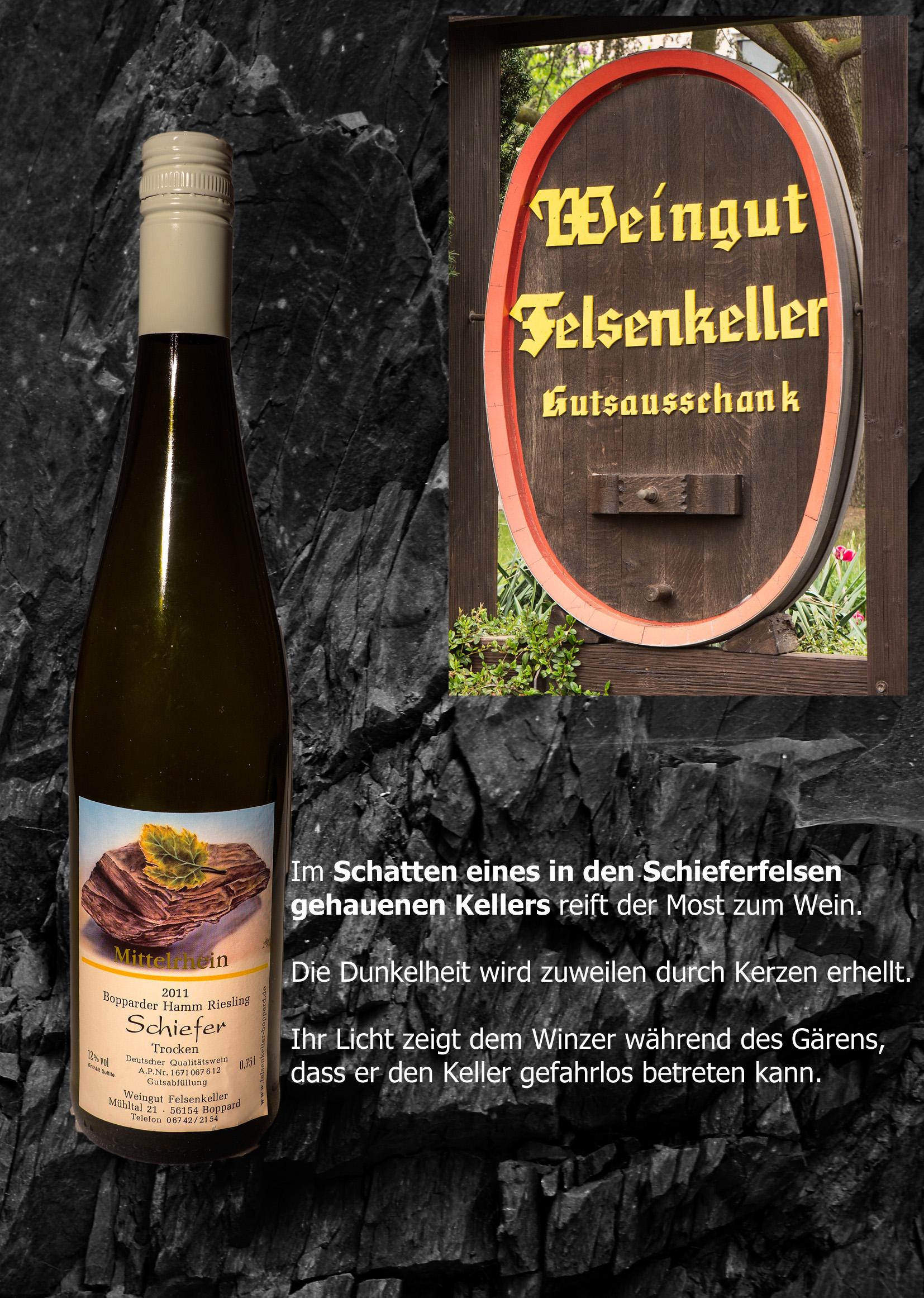 Im Schatten des Kellers reift der Wein